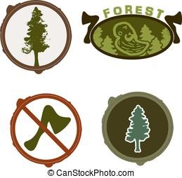 Lumberjack woodman logo green