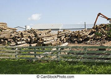 lumberyard in the country
