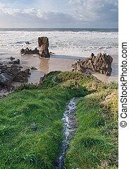 Lumeboo beach in Ferrol, Galicia, Spain.