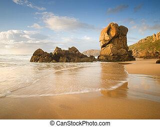Lumeboo beach in Galicia in a sunny day