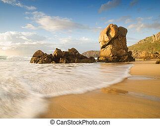 Lumeboo beach in Galicia, Spain