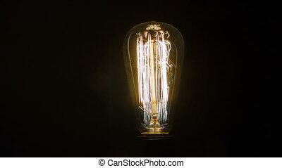 lumière, électrique, clignotant, ampoule