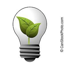 lumière, énergie, conception, ampoule
