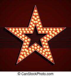 lumière, étoile, ampoule