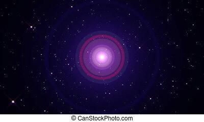lumière, étoile, explosion, rayon, espace