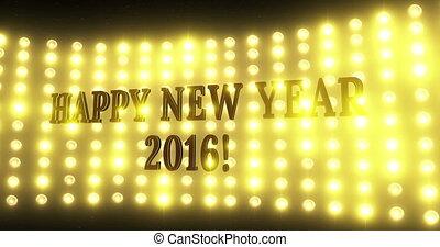 lumière, 4k, fond, année, nouveau, 2016, heureux