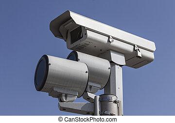 lumière arrêt, appareil photo, trafic