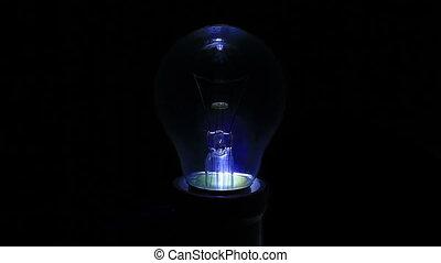 lumière, arrière-plan noir, ampoule