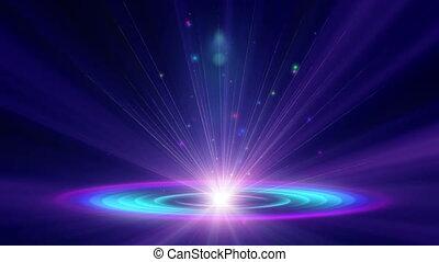 lumière, atome, rayon, 4k, galaxie