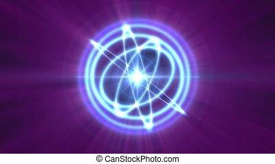 lumière, atome, rayon, orbite, 4k, résumé