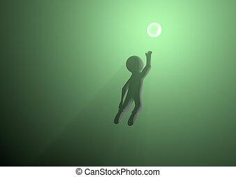 lumière, atteindre