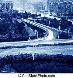 lumière, autoroute, pistes