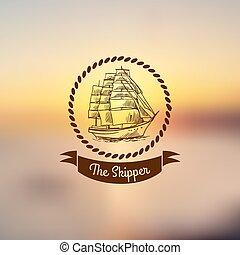 lumière, bateau, emblème, fond