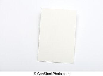 lumière, blanc, carte, fond, vide
