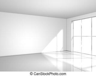 lumière, blanc, fenêtre, salle