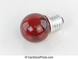 lumière, blanc rouge, fond, ampoule
