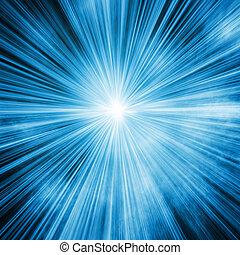 lumière bleue, éclater, fond