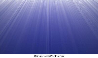 lumière bleue, 4k, profond, océan