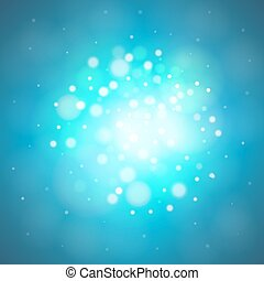 lumière bleue, bokeh, résumé, fond