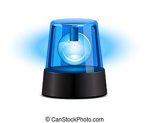 lumière bleue, clignotant