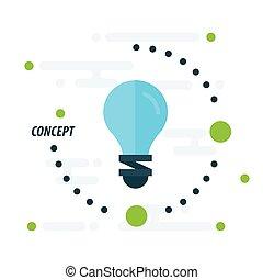 lumière bleue, concept, conception