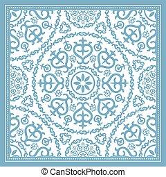 lumière bleue, conception, écharpe