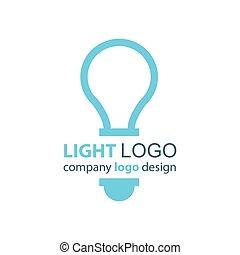 lumière bleue, conception, logo