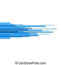 lumière bleue, directement, lignes, arrière-plan., vecteur, résumé