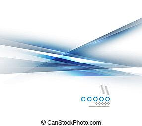 lumière bleue, directement, lignes, conception, ombre
