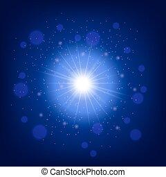 lumière bleue, effet, fond