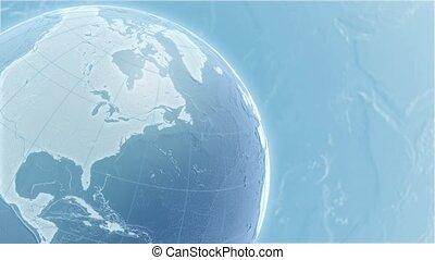 lumière bleue, globe