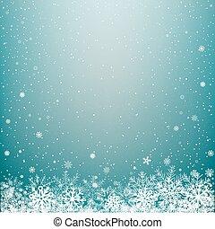 lumière bleue, hiver, fond, neige
