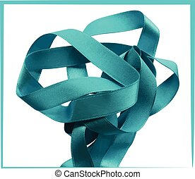lumière bleue, isolé, fond, ruban blanc