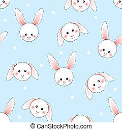 lumière bleue, lapin blanc, arrière-plan.