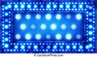 lumière bleue, loopa, scintillement, ampoules