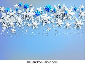 lumière bleue, neige, fond