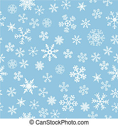 lumière bleue, neige, seamless, vecteur, fond