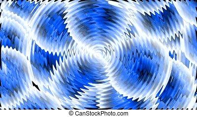 lumière bleue, ondulation, rayons
