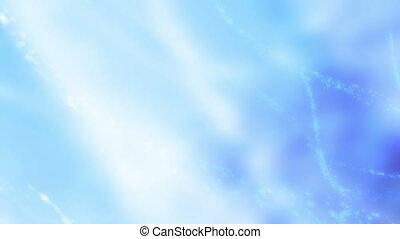 lumière bleue, particule, boucle