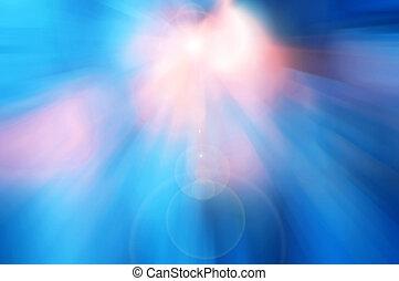 lumière bleue, résumé, coloré, fond