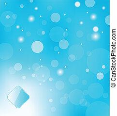 lumière bleue, résumé, fond, étiquette