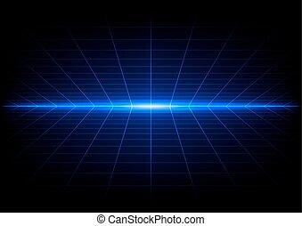 lumière bleue, résumé, fond, grilles