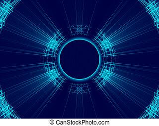 lumière bleue, résumé, fond, lignes