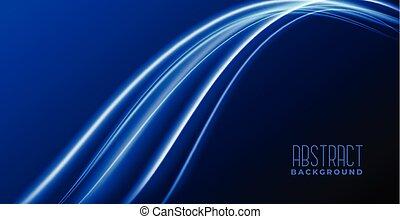 lumière bleue, résumé, vague, incandescent, fond