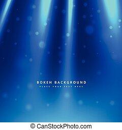 lumière bleue, rayons, fond