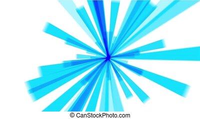 lumière bleue, rayons, &, laser., raie