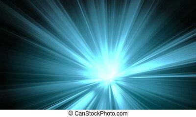 lumière bleue, rayons, mouvement, bg