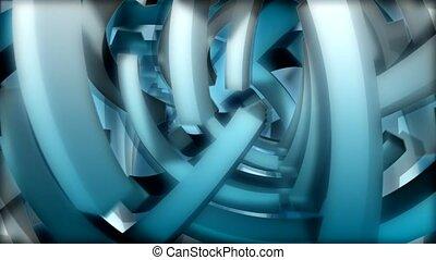 lumière bleue, rectangles