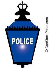 lumière bleue, station, police