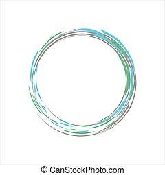 lumière bleue, symbole, zen, mouvement